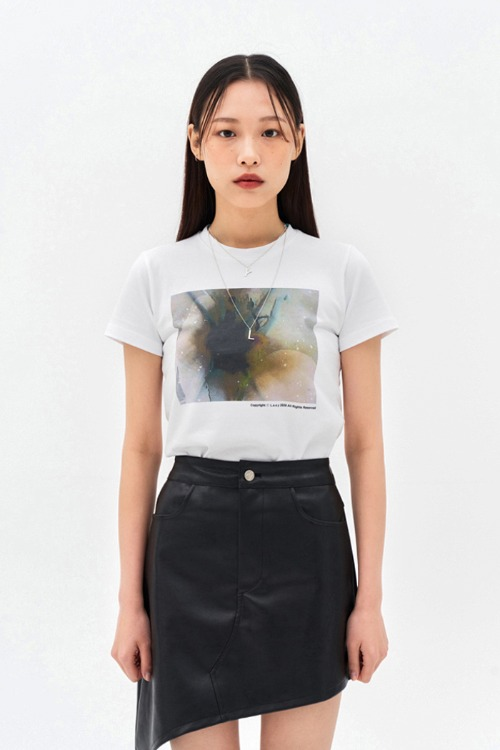 Abstract T-shirt White (3RD REORDER)